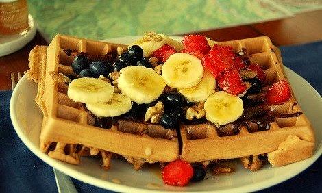 Banana, Fruit, Waffle