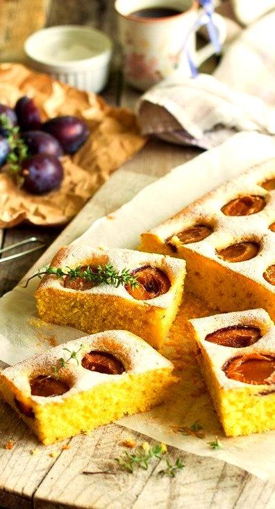 Plum Cake w/Thyme Modern Taste
