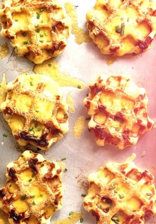 cheesy waffles, yummm