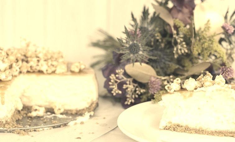Salted Caramel Popcorn Cheesecake Recipe