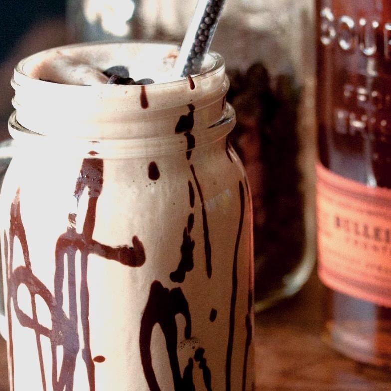 Bourbon Chocolate Milkshakes