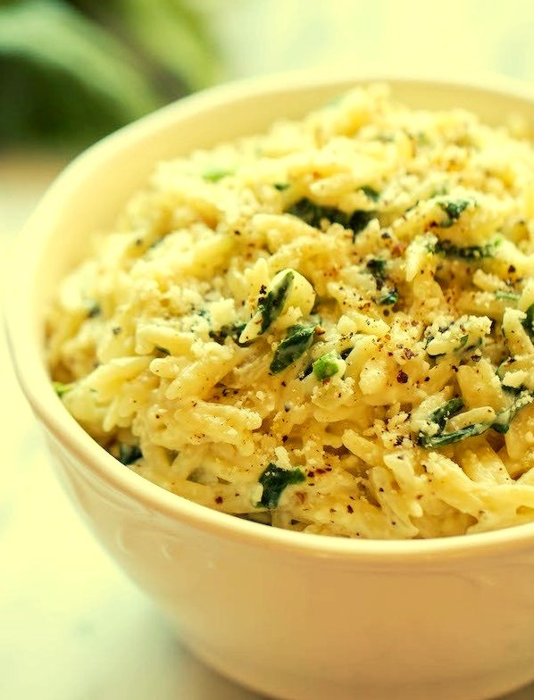 Parmesan and Spinach Orzo