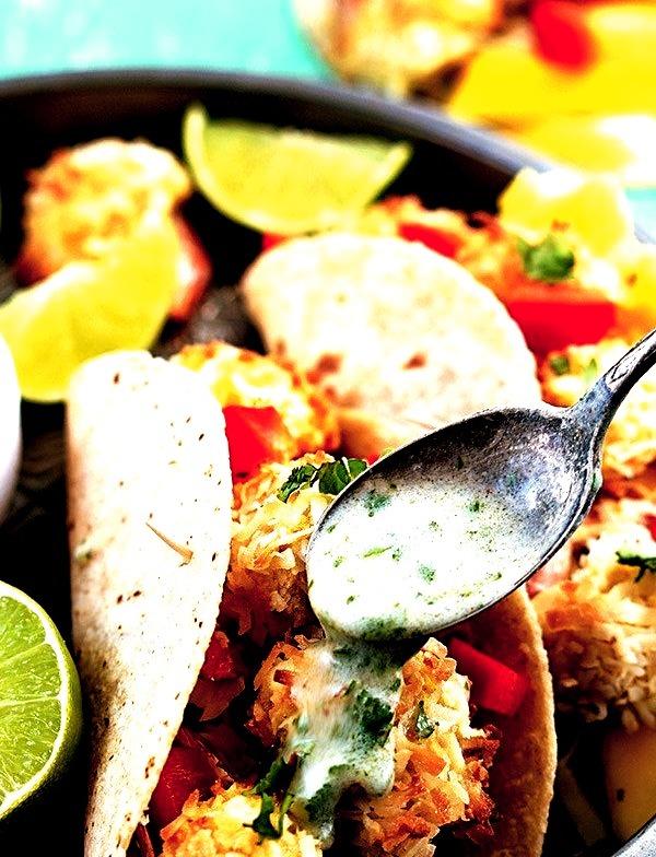 Coconut Shrimp Tacos