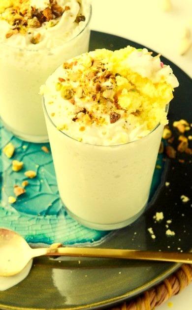 Spiked Pistachio Cream Cake Milkshakes How Sweet It Is