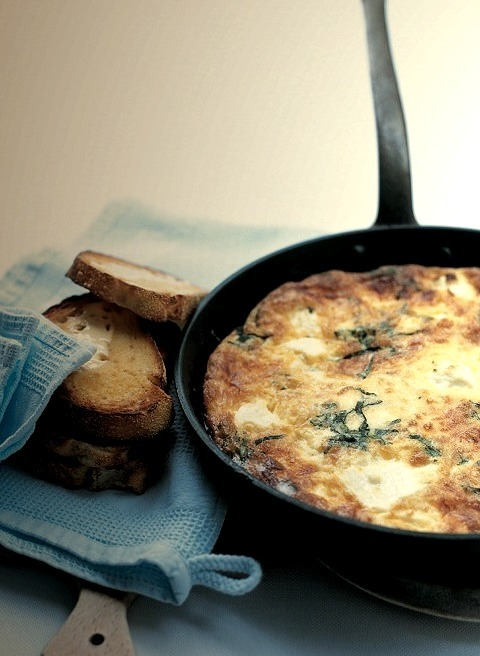 three-cheese frittata
