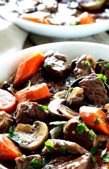 Gluten Free and Paleo Beef Bourguignon